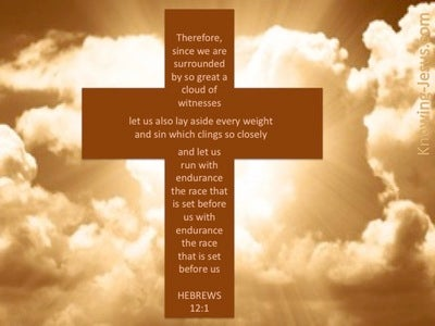 God's Witnesses (devotional) (beige) - Hebrews 12:1