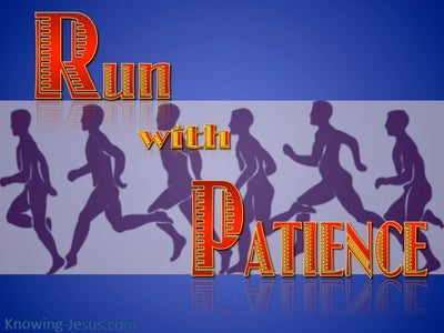Hebrews 12:1 Run With Patience (blue)