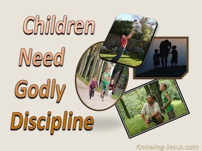 Hebrews 12:8 Children Need Godly Discipline (beige)