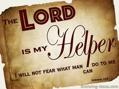 Hebrews 13:6 The Lord Is My Helper (brown)