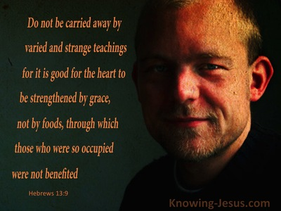 Hebrews 13:9 Be Strengthened By Grace (black)