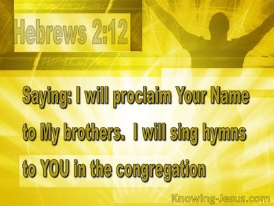 Hebrews 2:12 Sing And Proclaim Your Name (yellow)