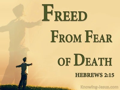 Hebrews 2:15 Freed From Fear Of Death (yellow)