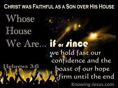 Hebrews 3:6 Christ Was A Faithful Son Over All His House (yellow)