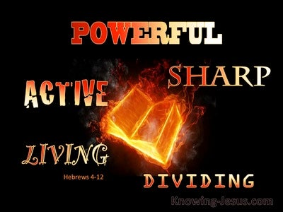 Hebrews 4:12 The Word Is Living And Active (yellow)