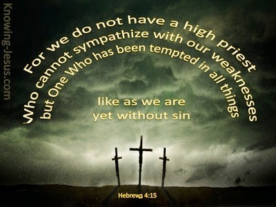 Hebrews 4:15 Jesus Our Great High Priest (yellow)
