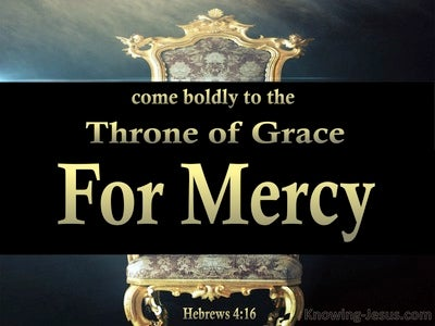 Hebrews 4:16 Come Boldly To The Throne Of Grace (aqua)