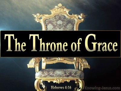 Hebrews 4:16 Come Boldly To The Throne Of Grace (gold)