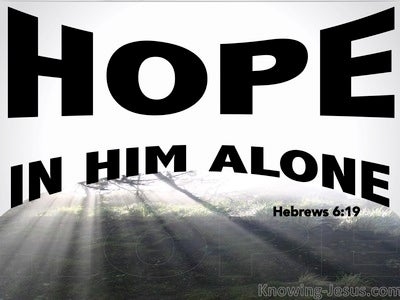 Hebrews 6:19 Hope In Him Alone (white)