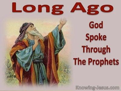 Hebrews 1:1 Long Ago God Spoke Through His Prophets (red) 2