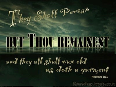 Hebrews 1:11 They Shall Perish But You Remain (black)