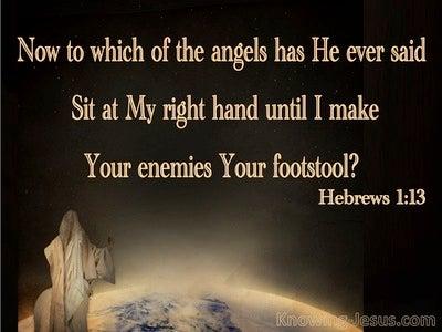 Hebrews 1:13 Sit At My Right Hand (beige)