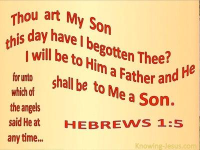 Hebrews 1:5 This Day Have I Begotten Thee (beige)
