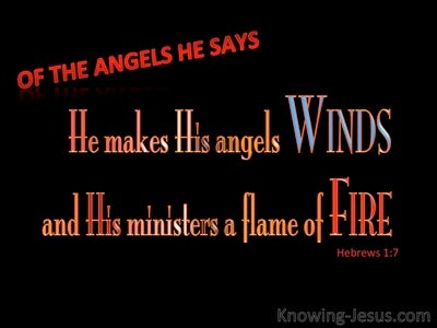 Hebrews 1:7 He Makes His Angels Winds And Flames Of Fire (red)