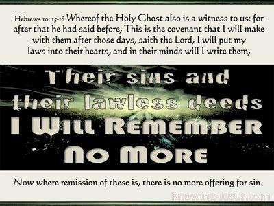 Hebrews 10:17 Their Sins I Will Remember No More (beige)