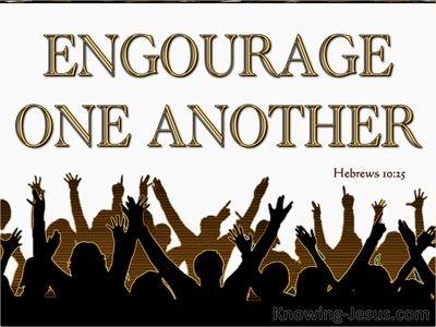 Hebrews 10:25 Not Forsaking The Assembling Together (gold)