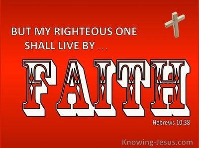 Hebrews 10:38 My Righteous Ones Shall Live By Faith (white)