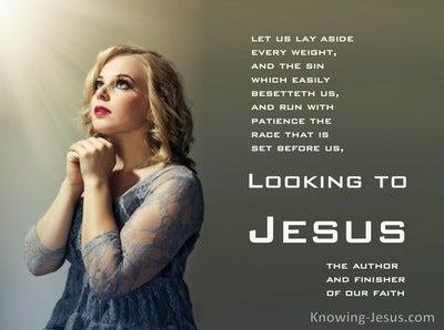 Hebrews 12:1 Look To Jesus (devotional)08:05 (gray)