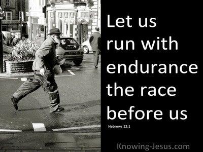 Hebrews 12:1 Run With Patience (black)