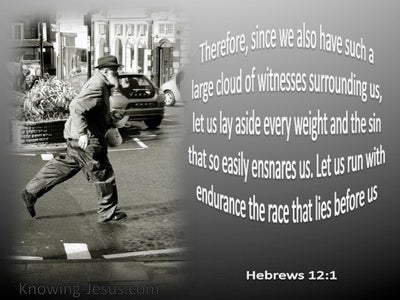 Hebrews 12:1 Run With Patience (gray)