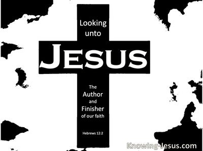 Hebrews 12:2 Looking Unto Jesus (black)