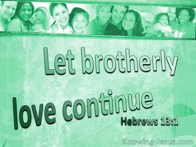 Hebrews 13:1 Let Brotherly Love Continue (sage)