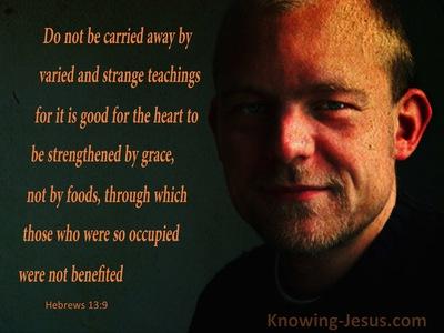 Hebrews 13:9 Be Strengthened By Grace (black)