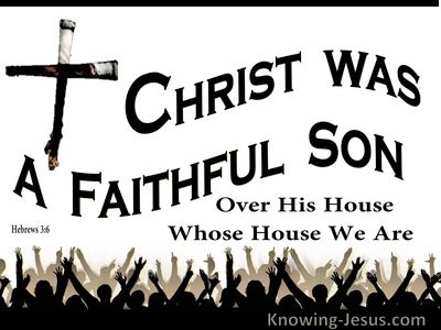 Hebrews 3:6 Christ Was A Faithful Son Over All His House (white)