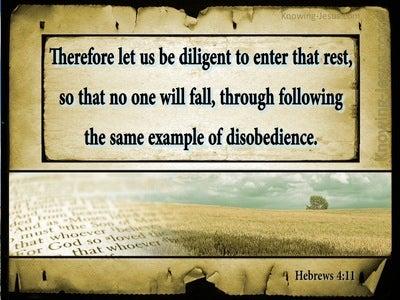Hebrews 4:11 Let Us Be Diligent To Enter Into Rest (beige)