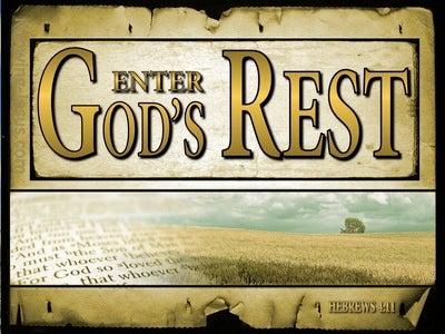 Hebrews 4:11 Let Us Be Diligent To Enter Into Rest (gold)