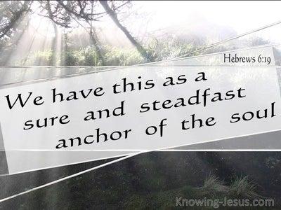 Hebrews 6:19 We Have A Sure And Steadfast Hope (black)