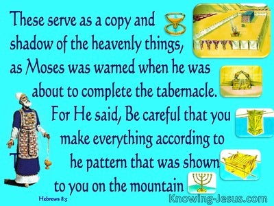 Hebrews 8:5 A Copy And Shadow Of Heavenly Things  (blue)