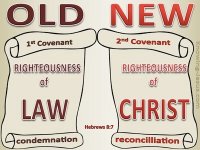 Hebrews 8:7 Old And New Covenants (red)