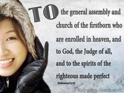 Hebrews 12:23 Church Of The Firstborn (black)