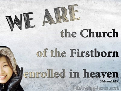 Hebrews 12:23 Church Of The Firstborn (gray)