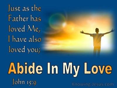John 15:9  Abide In My Love (blue)