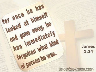 James  1-24 He Immediately Forgets What Kind Of Person He Was (cream)