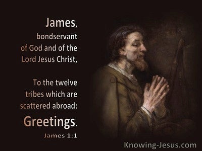 James 1:1 James To the 12 Tribes Which Are Scattered Abroad (brown)