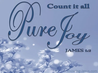 James 1:2 Consider It Pure Joy (blue)