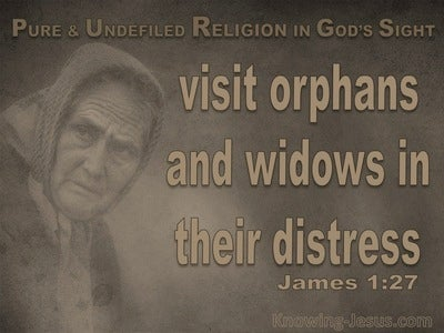 James 1:27 Pure And Undefiled Religion (gray)