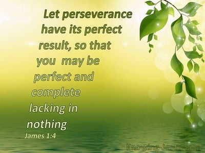 James 1:4 Let Patience Have Its Perfect Work (green)