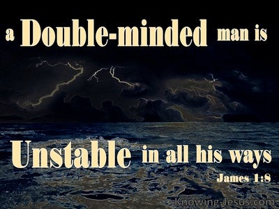 James 1:8 A Double Minded Man Is Unstable (black)