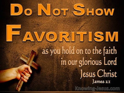 James 2:1 Do Not Show Favouritism And Hold Onto Your Faith (orange)
