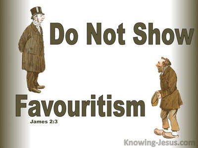James 2:3 Do Not Shoe Favouritism (white)