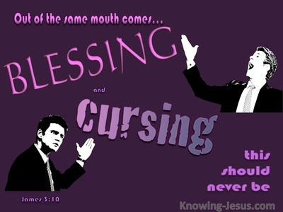 James 3:10 Blessings And Cursings (purple)