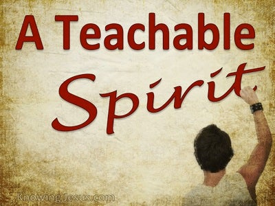 A Teachable Spirit (devotional)