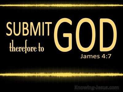 James 4:7 Submit To God And Resist The Devil (gold)