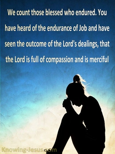 James 5:11 The Lord Is Full Of Compassion And Merciful (blue)