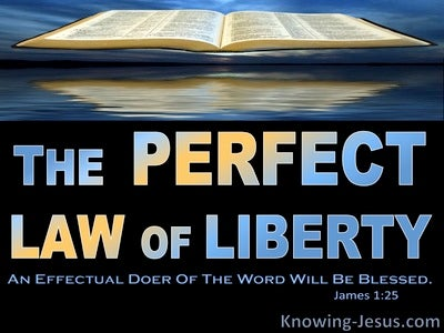 James 1:25 Abide By The Perfect Law Of Liberty (blue)