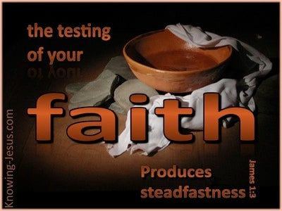 James 1:3 Testing Of Your Faith (black)